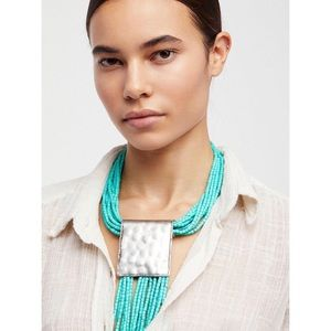 Free People Bali Beaches Collar Necklace Turquoise